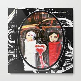 Two Girls Frenemies Metal Print