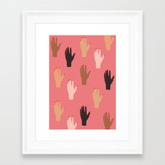 LADY FINGERS Framed Art Print