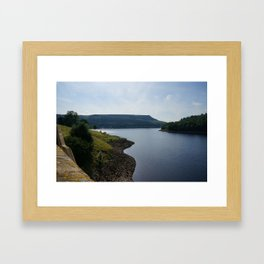 Ladybower Reservoir and Stannage Edge Framed Art Print