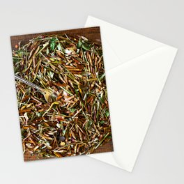 Herbal dish Stationery Cards