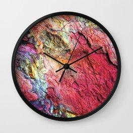 Colorful Nature : Texture Rainbow Magenta Wall Clock
