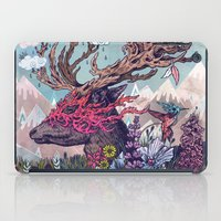 spirit iPad Cases featuring Journeying Spirit (deer) by Mat Miller