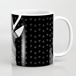 Black and White Deer Abstract Design Coffee Mug