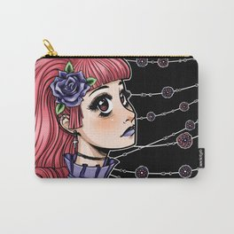 Pink Hair Gothic Lolita Carry-All Pouch