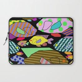 Geometric Fish - Abstract, retro design Laptop Sleeve
