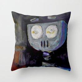 Robot Surprise Throw Pillow