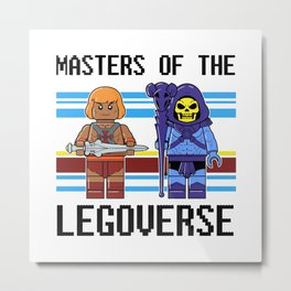 Masters Of The Legoverse Metal Print