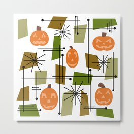 Halloween Mid Century Modern Metal Print