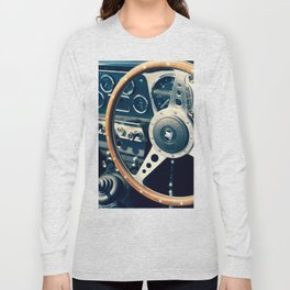 Old Triumph Wheel / Classic Cars Photography Long Sleeve T-shirt