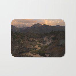 Hot Creek Sunset in the Sierras Bath Mat
