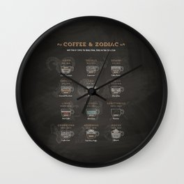 Coffee type and Zodiac sign #3 Wall Clock