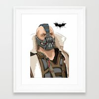 bane Framed Art Prints featuring Bane by Thomas Moore