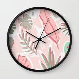 Tropical cut out pattern Wall Clock