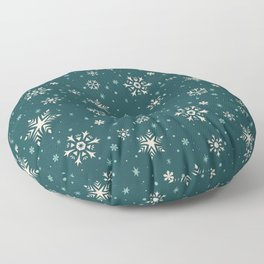Snowflake Flurries Floor Pillow