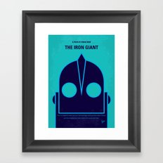 No406 My The Iron Giant minimal movie poster Framed Art Print