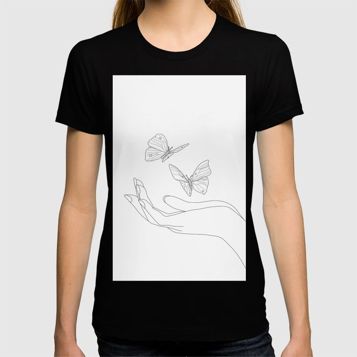 Butterflies on the Palm of the Hand T-shirt