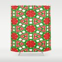 Red, Green and White Kaleidoscope 3372 by celestesheffey