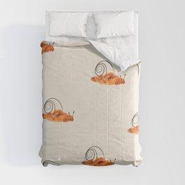 croissant snail Comforters