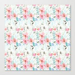 Garden Watercolour Floral Canvas Print