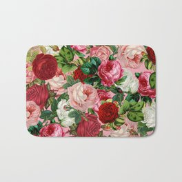rose bushes Bath Mat