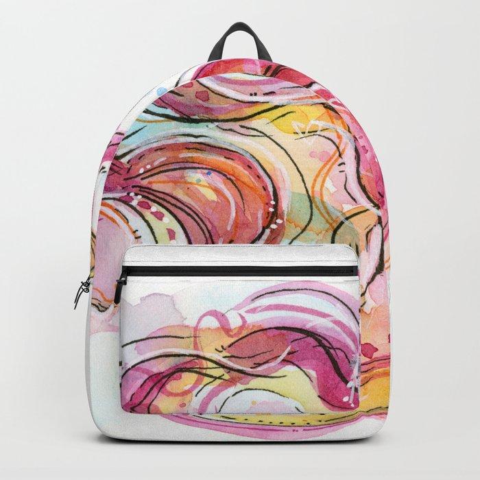 Eye Betta Fish Surreal Animal Hearts Watercolor Backpack