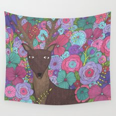The Wise Stag Wall Tapestry
