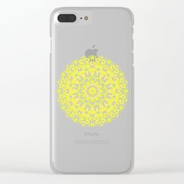 Mandala 12 / 1 eden spirit yellow white Clear iPhone Case