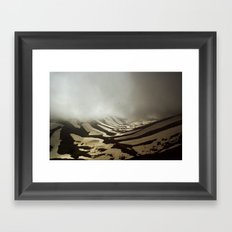snow valley Framed Art Print