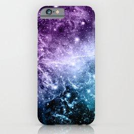 Purple Teal Galaxy Nebula Dream #4 #decor #art #society6 iPhone Case
