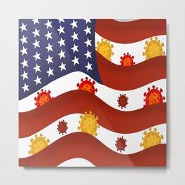 flage save virus Metal Print