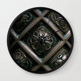Victorian Bronze pillar Wall Clock