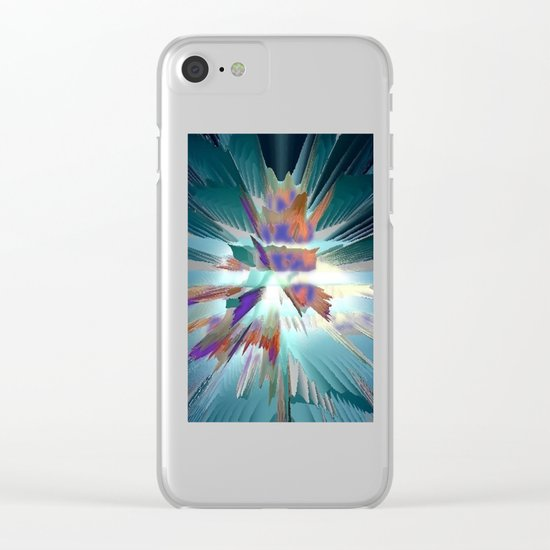 Pow Teal Splash Clear iPhone Case