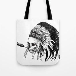 Indian skull Tote Bag