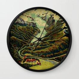 Franz Josef Glacier Vintage Travel Poster Wall Clock