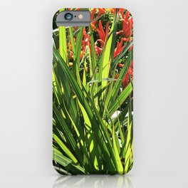 Garden Floral With Lush, Lavish Leaves iPhone Case