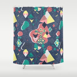 Abstract Fragmentation Shower Curtain