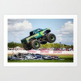 Swamp Thing airborne Art Print