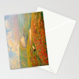 Václav Radimský (1867-1946) Normandy coast in bloom Impressionist Landscape Painting Bright Colors Stationery Cards