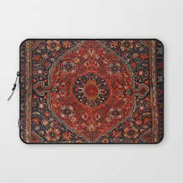 Persian Joshan Old Century Authentic Colorful Red Rusty Blue Vintage Rug Pattern Laptop Sleeve