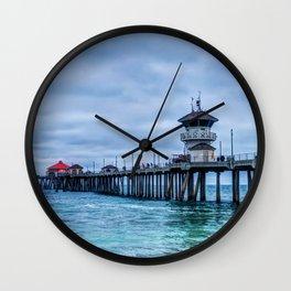 Greens and Greys Wall Clock