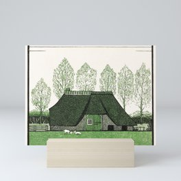 Farmhouse with thatched roof (1919) by Julie de Graag (1877-1924) Mini Art Print