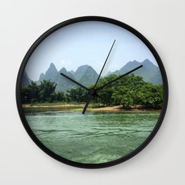 The Sheep & The Mountains Wall Clock