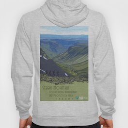 Vintage Poster - Steens Mountain Protection Area, Oregon (2015) Hoody