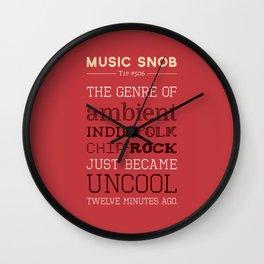 Hybrid Genres to Avoid — Music Snob Tip #506 Wall Clock