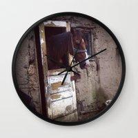 feminism Wall Clocks featuring Feminism by Oana Popan