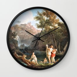 Claude Joseph Vernet - The Four Times Of Day- Evening - Digital Remastered Edition Wall Clock