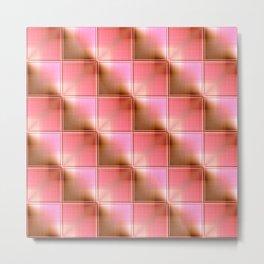 Square pattern lightorange Metal Print