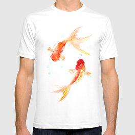 Goldfish, Two Koi Fish, Feng Shui, yoga Asian meditation design T-shirt