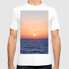 Evening sea landscape. MEDIUM White Mens Fitted Tee