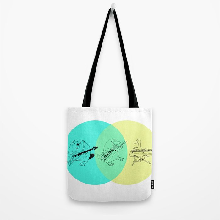 Keytar Platypus Venn Diagram Tote Bag